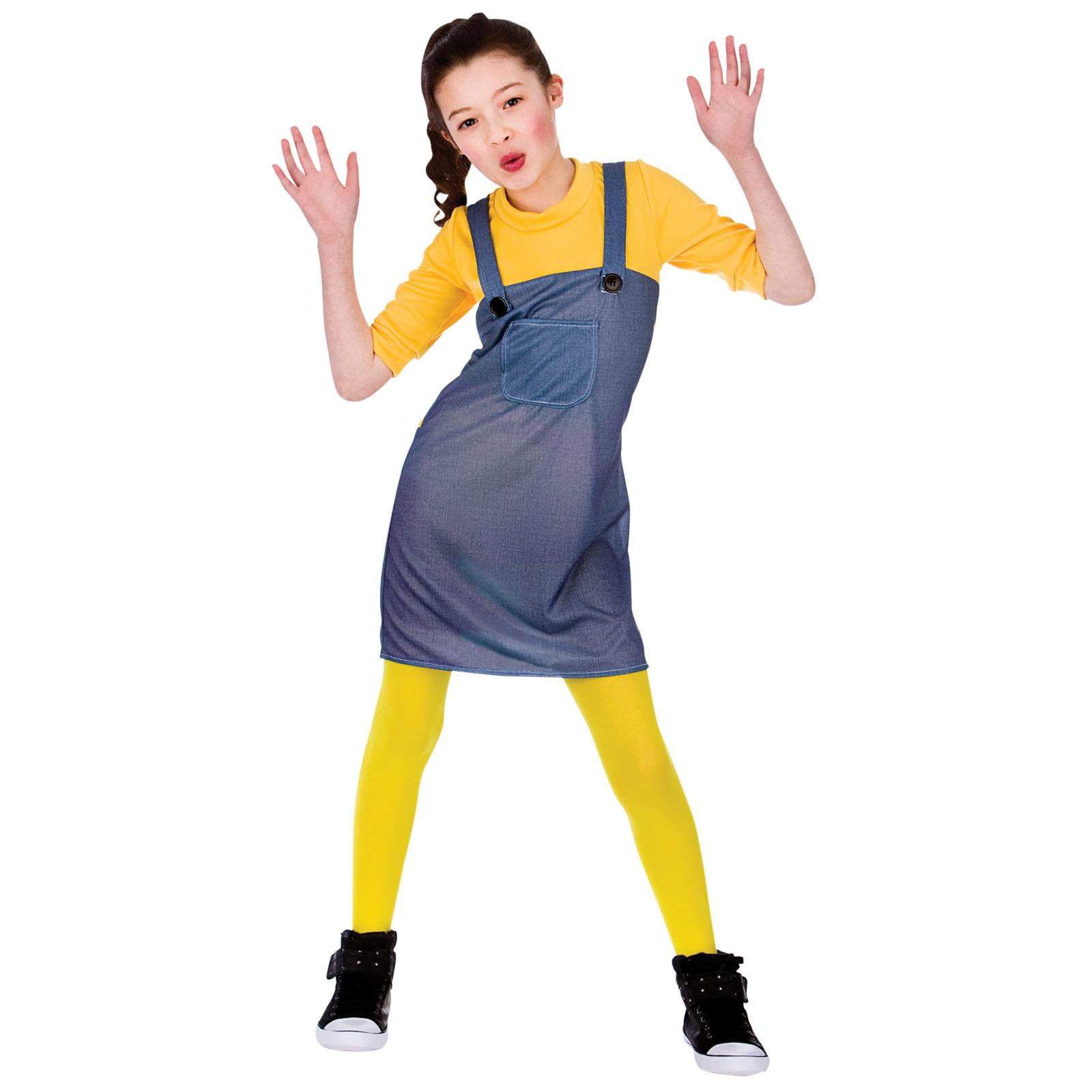Amarillo Travieso Trabajador Para Niños Fiesta De Disfraces De Halloween Traje Nuevo