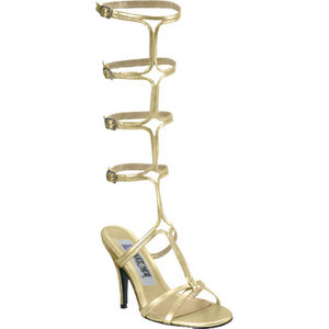 Greek Goddess Athena Cleopatra Style Gold Colour Fancy Dress Roman Sandals UK 5.5