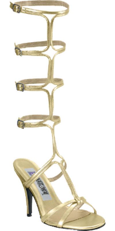 Greek Goddess Athena Cleopatra Style Gold Colour Fancy Dress Roman Sandals UK 5.5