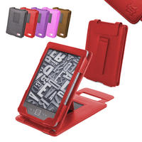 View Item Red Leather Case With Kick Stand For New Amazon Kindle 4 (Latest Generation)
