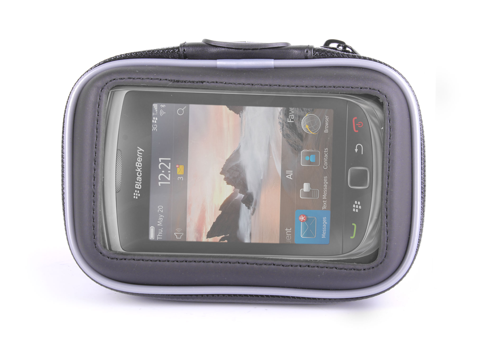 Holder/Case For Blackberry Torch 9800 Mobile Phone w/ Mountain Bike Mount/Stand Enlarged Preview