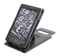 View Item Black Leather Case With Kick Stand For New Amazon Kindle 4 (Latest Generation)