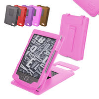 View Item Pink Leather Case With Kick Stand For New Amazon Kindle 4 (Latest Generation)