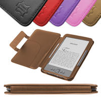 View Item Brown Leather Book Case For New Amazon Kindle 4 (Latest Generation)