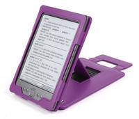 View Item Purple Leather Case With Kick  Stand For New Amazon Kindle 4 (Latest Generation)