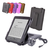 View Item Black Leather Case w/ Stand For New Generation Amazon Kindle 4 w/ Mains Charger