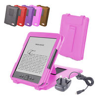 View Item Pink Leather Case w/ Stand For New Generation Amazon Kindle 4 w/ Mains Charger