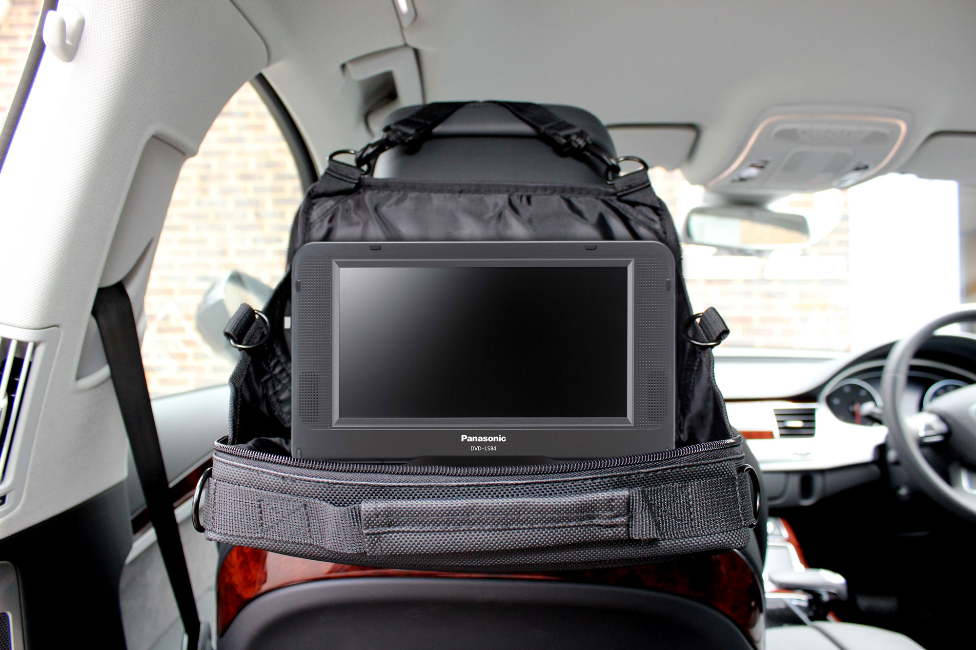 Portable DVD Player Bag/Case/Holder w/ Car Headrest Mount For Panasonic DVD-LS50 Preview