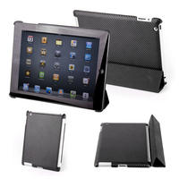 View Item Carbon Effect Back Cover For The Apple iPad 2 Works With The iPad 2 Smart Cover