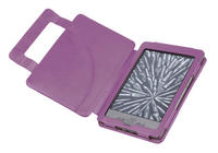 View Item Purple Leather Book Case For New Amazon Kindle 4 (Latest Generation)