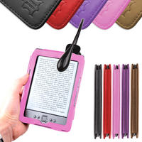 View Item Pink Leather Book Case For New Generation Amazon Kindle 4 With Clip-On LED Light