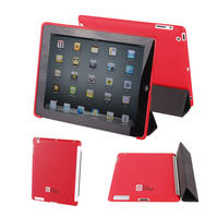 View Item Back Cover For Apple iPad 2 In Red - Fits The Genuine Apple iPad 2 Smart Cover