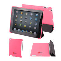 View Item Pink Apple iPad 2 Back Cover Compatible With The Genuine Apple iPad Smart Cover