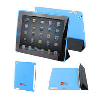View Item Back Cover for Apple iPad 2 In Blue Works With Genuine Apple iPad 2 Smart Cover