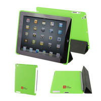 View Item Green Back Cover For Apple iPad 2 - Works With Genuine Apple iPad 2 Smart Cover