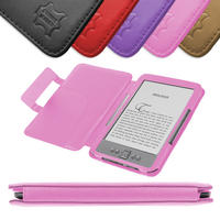 View Item Pink Leather Book Case For New Amazon Kindle 4 (Latest Generation)