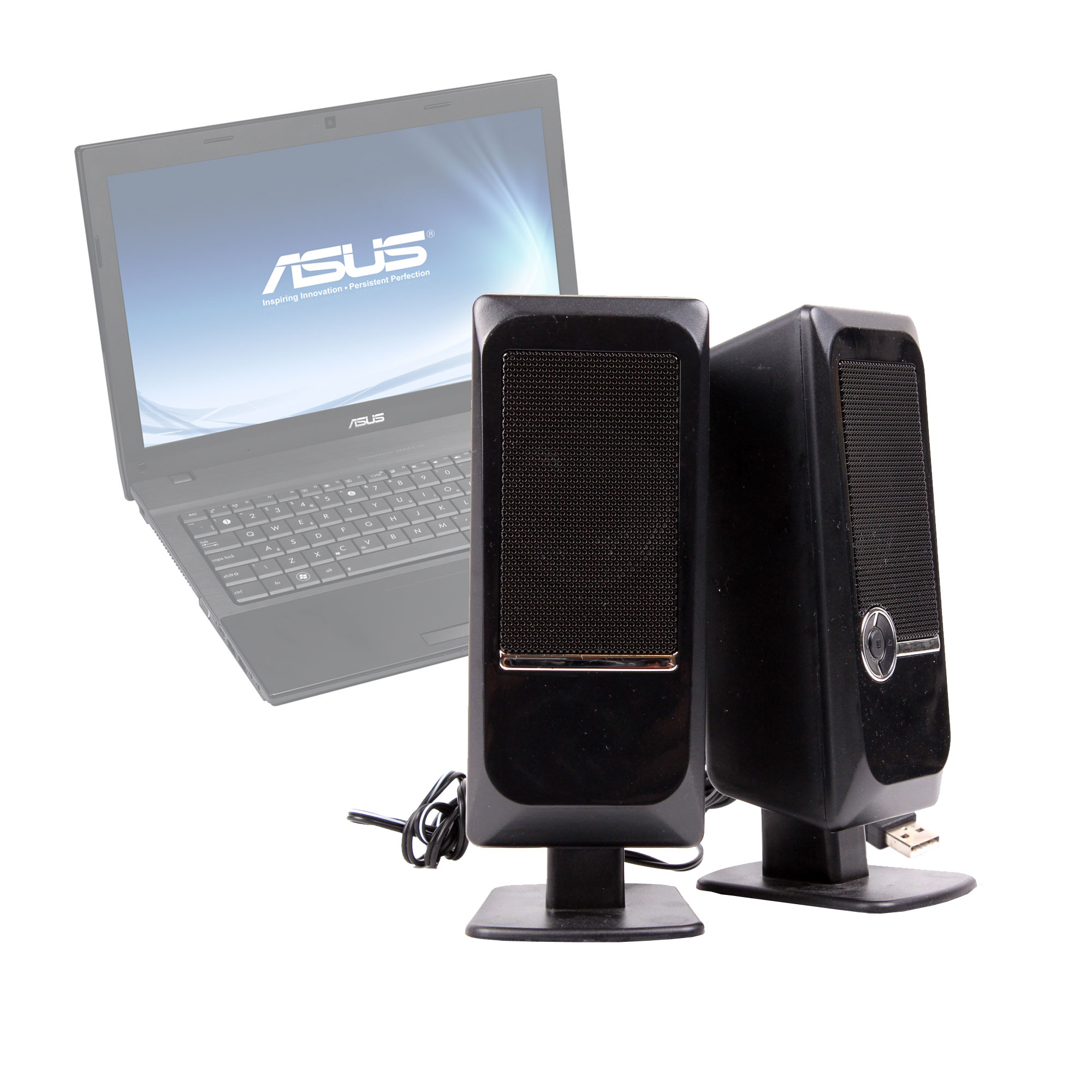 enceintes connexion usb pour ordinateurs portables asus p52 vx7 k72 series ebay. Black Bedroom Furniture Sets. Home Design Ideas