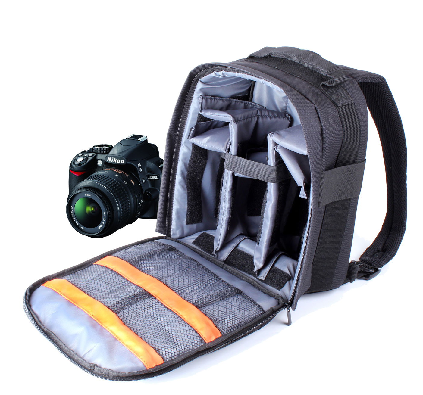 Camera Dslr Camera Bag Backpack black slr dslr camera rucksack backpack bag fits nikon d5000 thumbnail 1