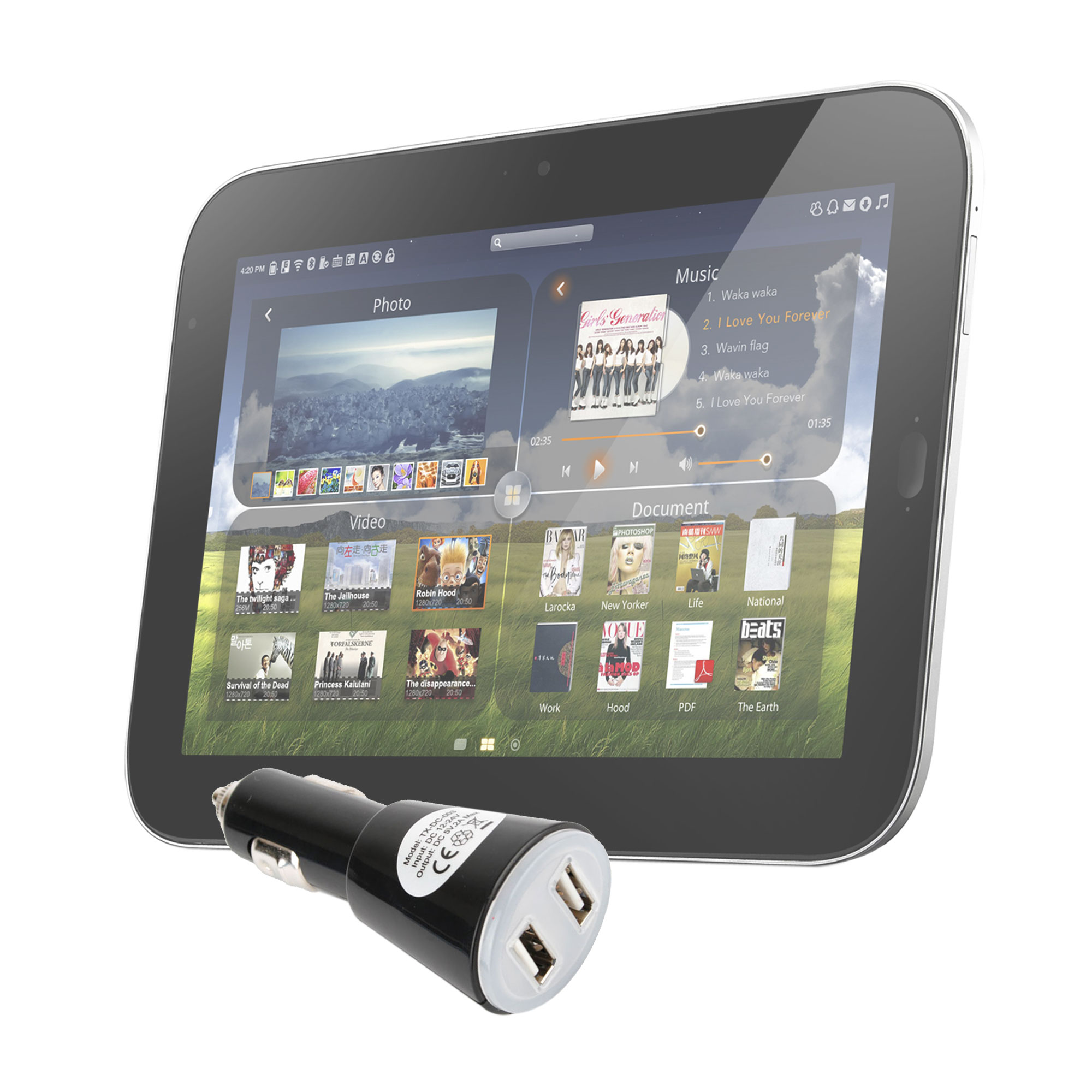 chargeur voiture usb pour tablettes lenovo thinkpad tablet ideapad k1 tablet ebay. Black Bedroom Furniture Sets. Home Design Ideas