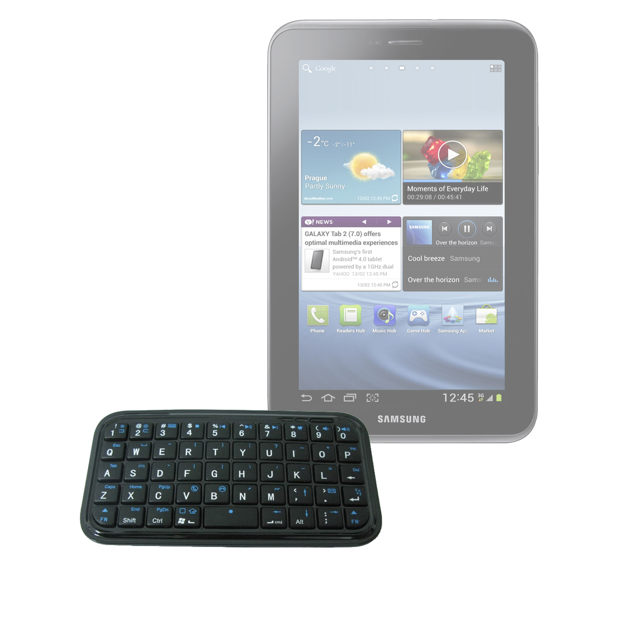 clavier mini bluetooth sans fil pour tablette samsung galaxy tab 2 7 0 ebay. Black Bedroom Furniture Sets. Home Design Ideas