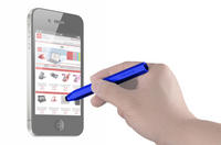 View Item Blue Compact Stylus With Soft Tip For Touch Screen Mobile Phones & Tablet PCs