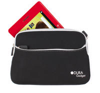View Item DURAGADGET Black 7&quot; Storage Pouch For Children's Tablet With Front Pocket &amp; Zips
