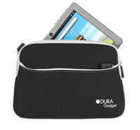 View Item DURAGADGET 8 Inch Black Pouch For Kids Tablet With Front Pocket &amp; Wrist Strap