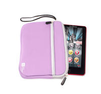 View Item DURAGADGET Soft Pink Neoprene Pouch For Kids 7&quot; Tablets w/ Storage &amp; Wrist Strap