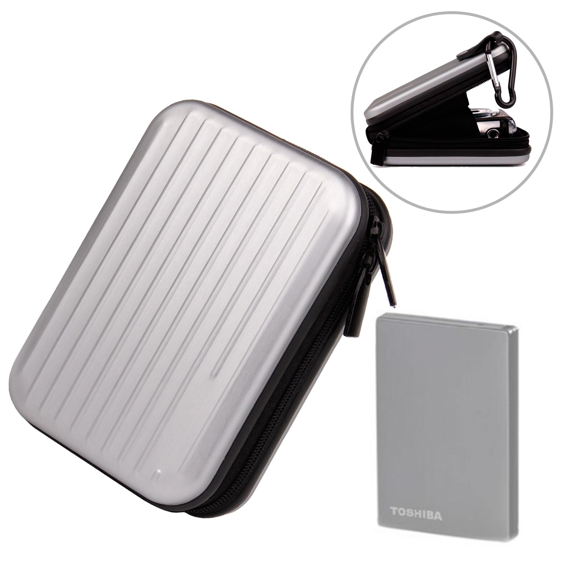 Housse en aluminium l ger pour disque dur externe toshiba for Disque dur exterieur