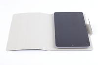 "View Item Grey Folding Smart Cover For 7"" Tablets With Soft Suede Effect Interior Lining"