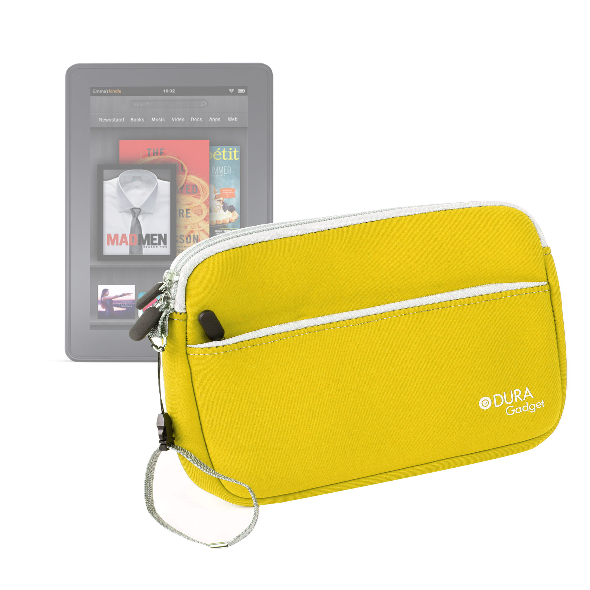 Housse tui jaune poign e pour tablette amazon kindle fire for Housse tablette 8 pouces