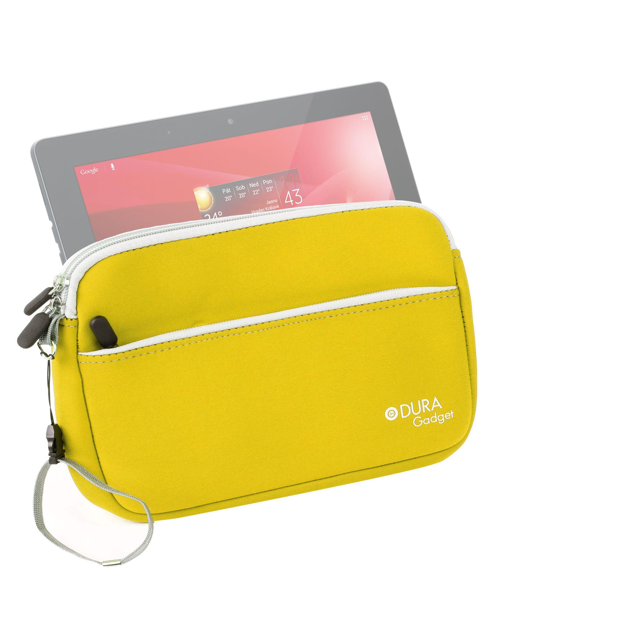 Housse tui pochette jaune pour tablette tactile for Housse tablette 7 pouces