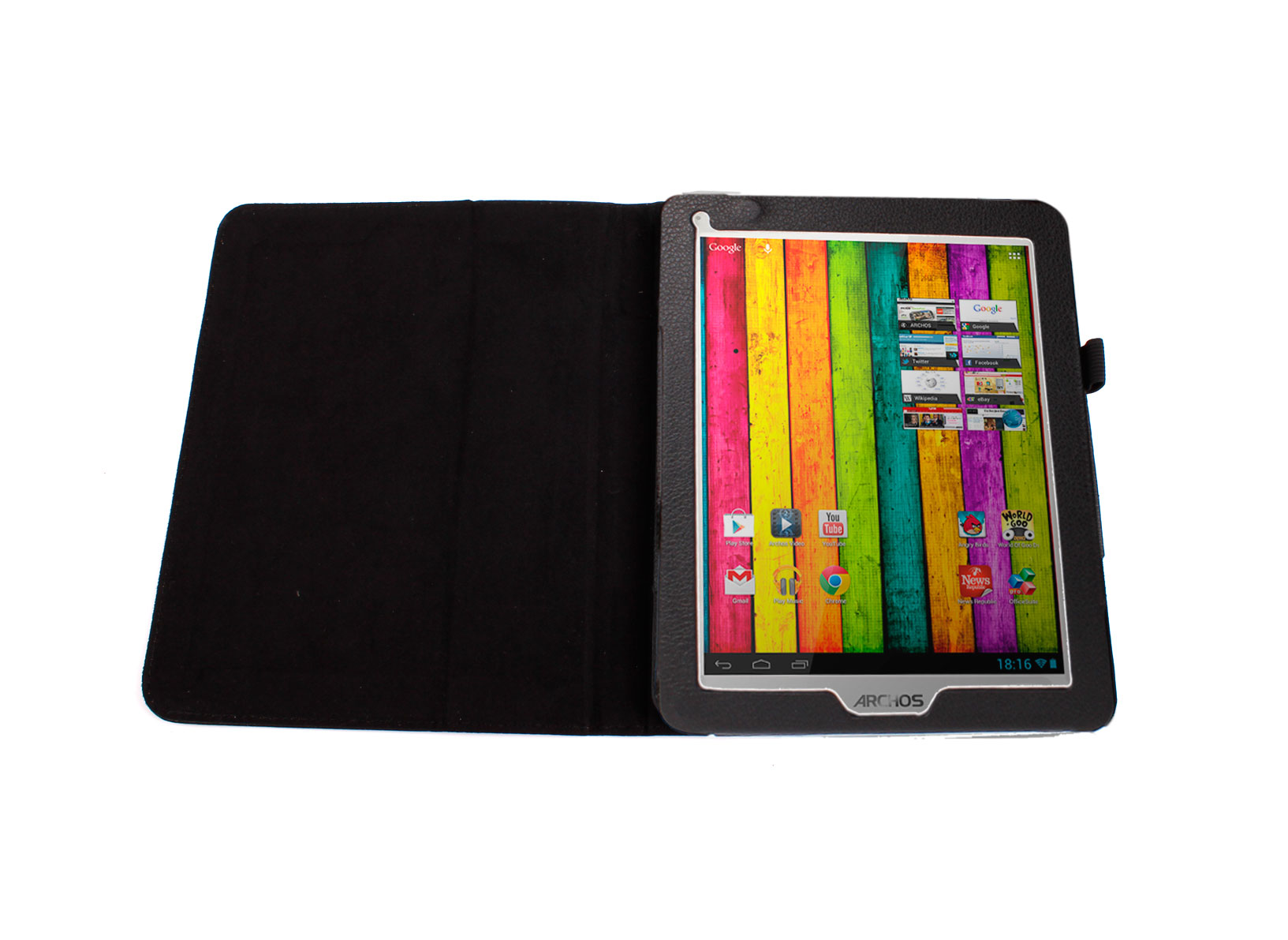 etui noir pour archos 80 titanium tablette tactile 8 pouces android 3g wifi ebay. Black Bedroom Furniture Sets. Home Design Ideas