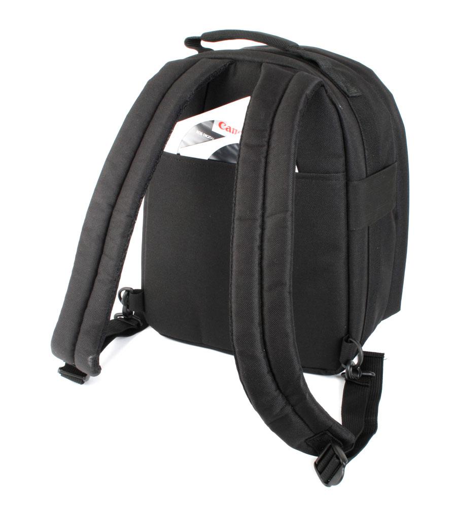 sac dos noir en nylon pour appareil photo num rique. Black Bedroom Furniture Sets. Home Design Ideas