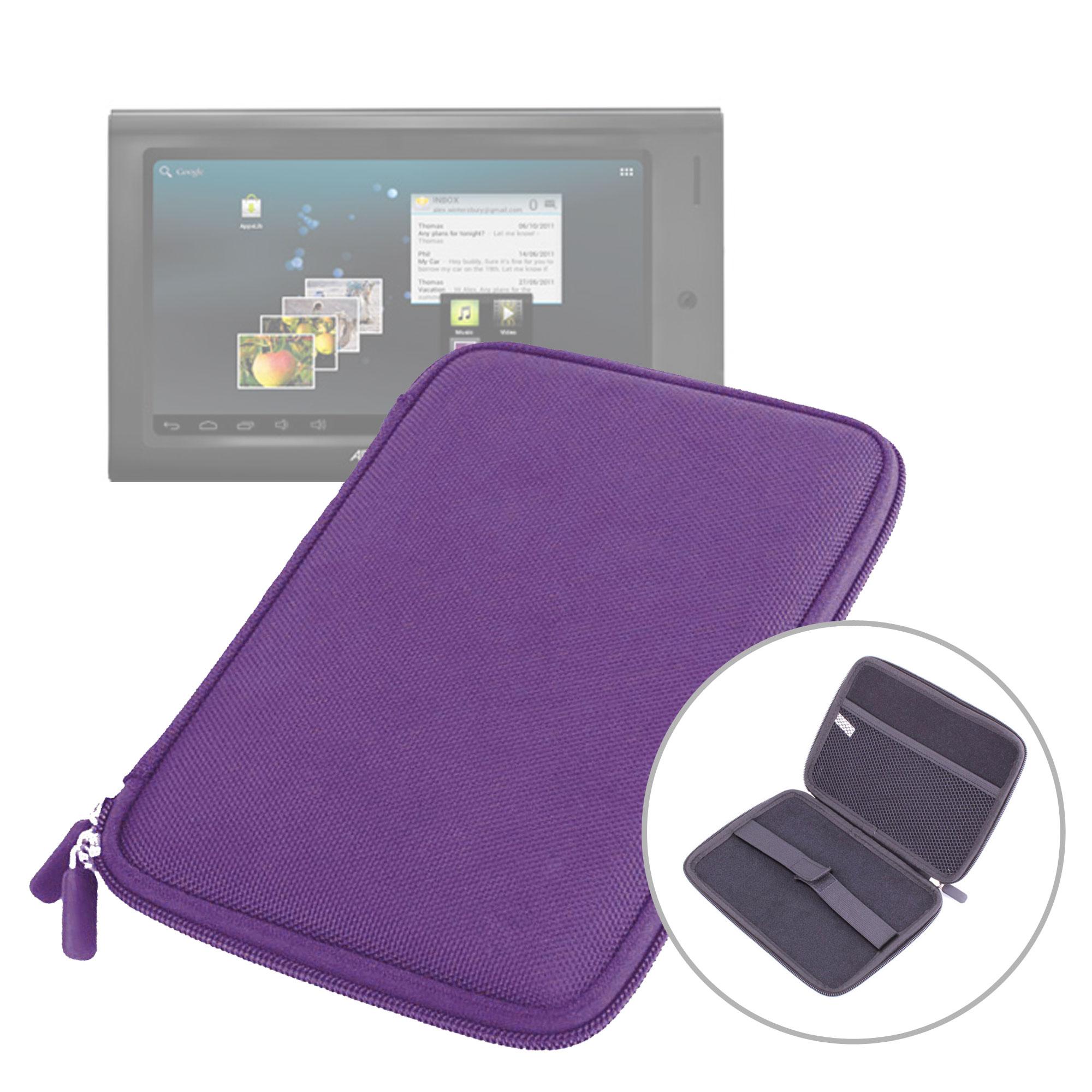EVA Schutzhülle (violett) mit Zip für Archos Arnova 7H G3 7