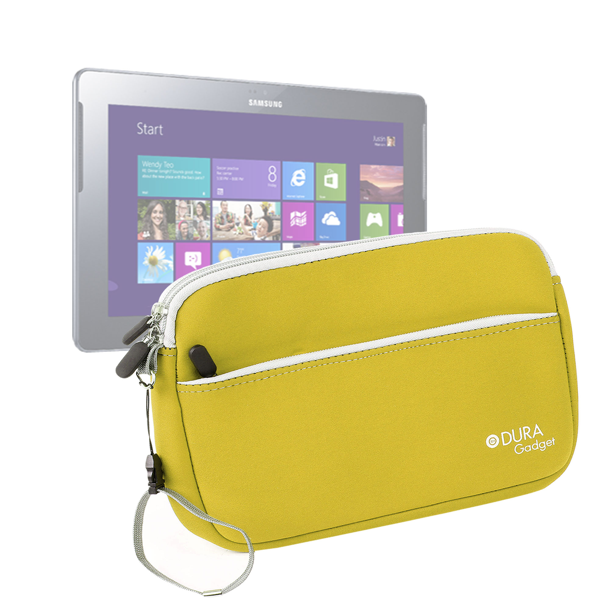 Housse tui jaune pour tablette samsung ativ tab 10 1 for Housse tablette samsung