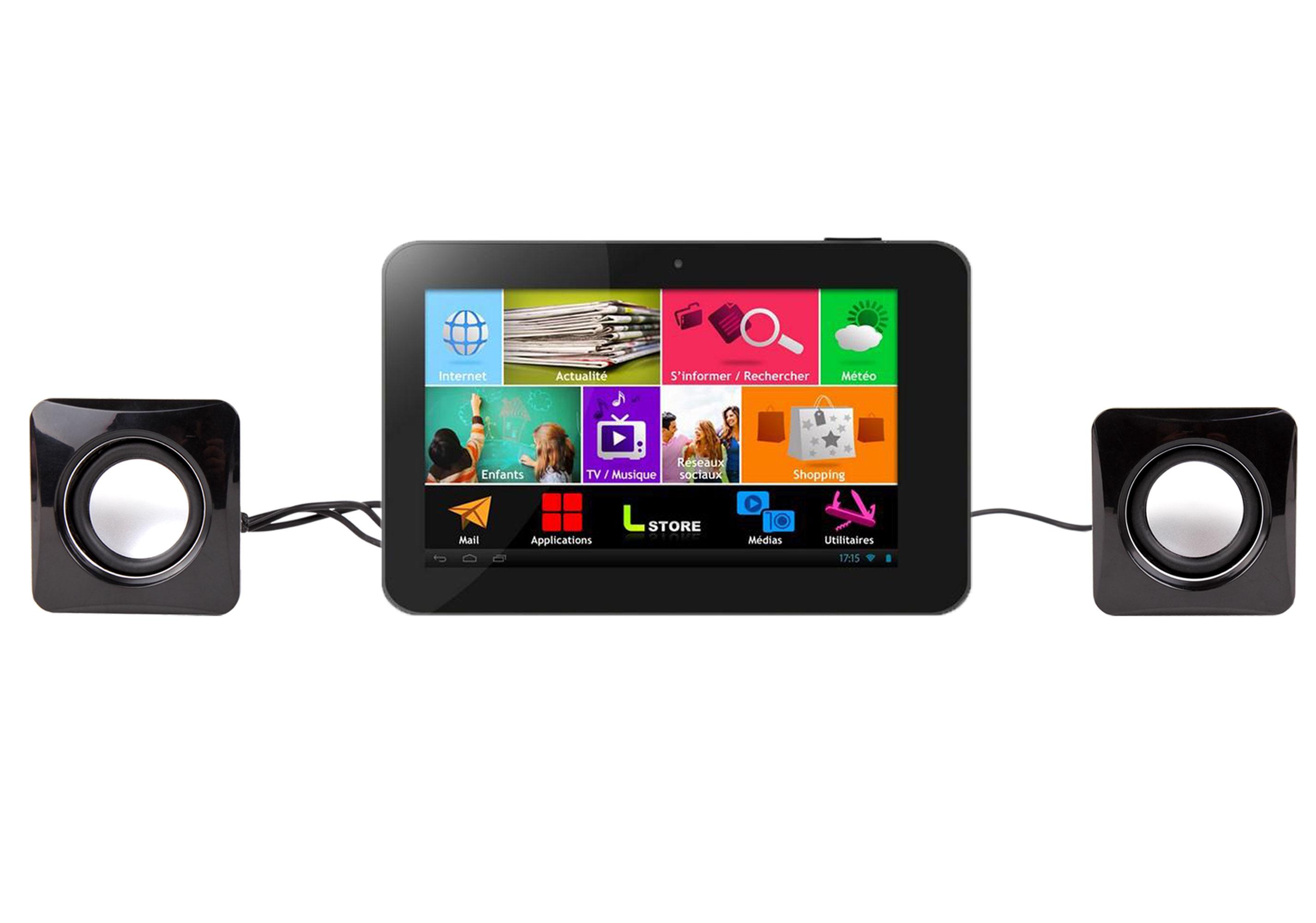 mini enceintes haut parleurs usb pour tablette logicom tablife 70 7 pouces ebay. Black Bedroom Furniture Sets. Home Design Ideas
