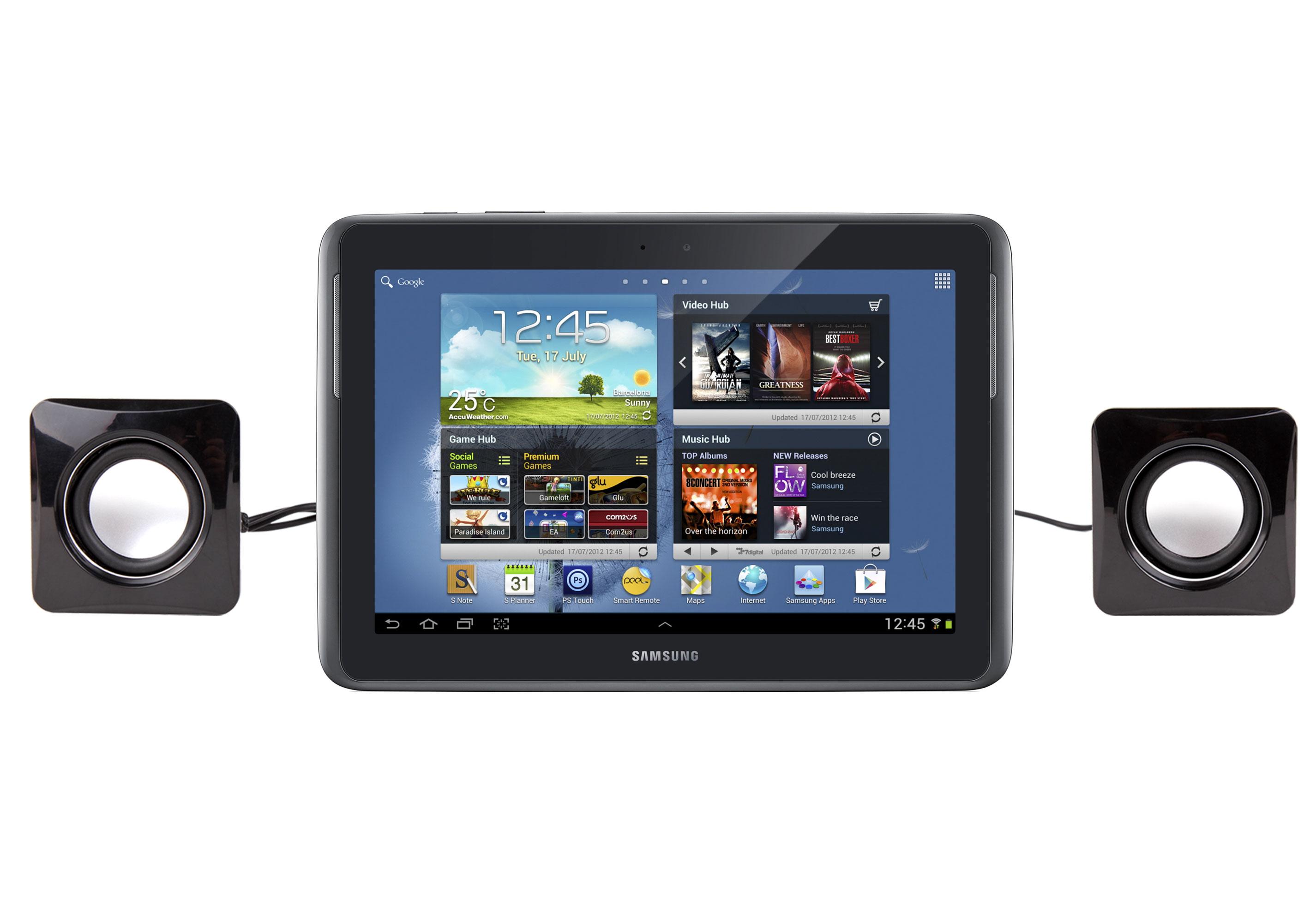mini enceintes haut parleurs usb pour tablette samsung. Black Bedroom Furniture Sets. Home Design Ideas