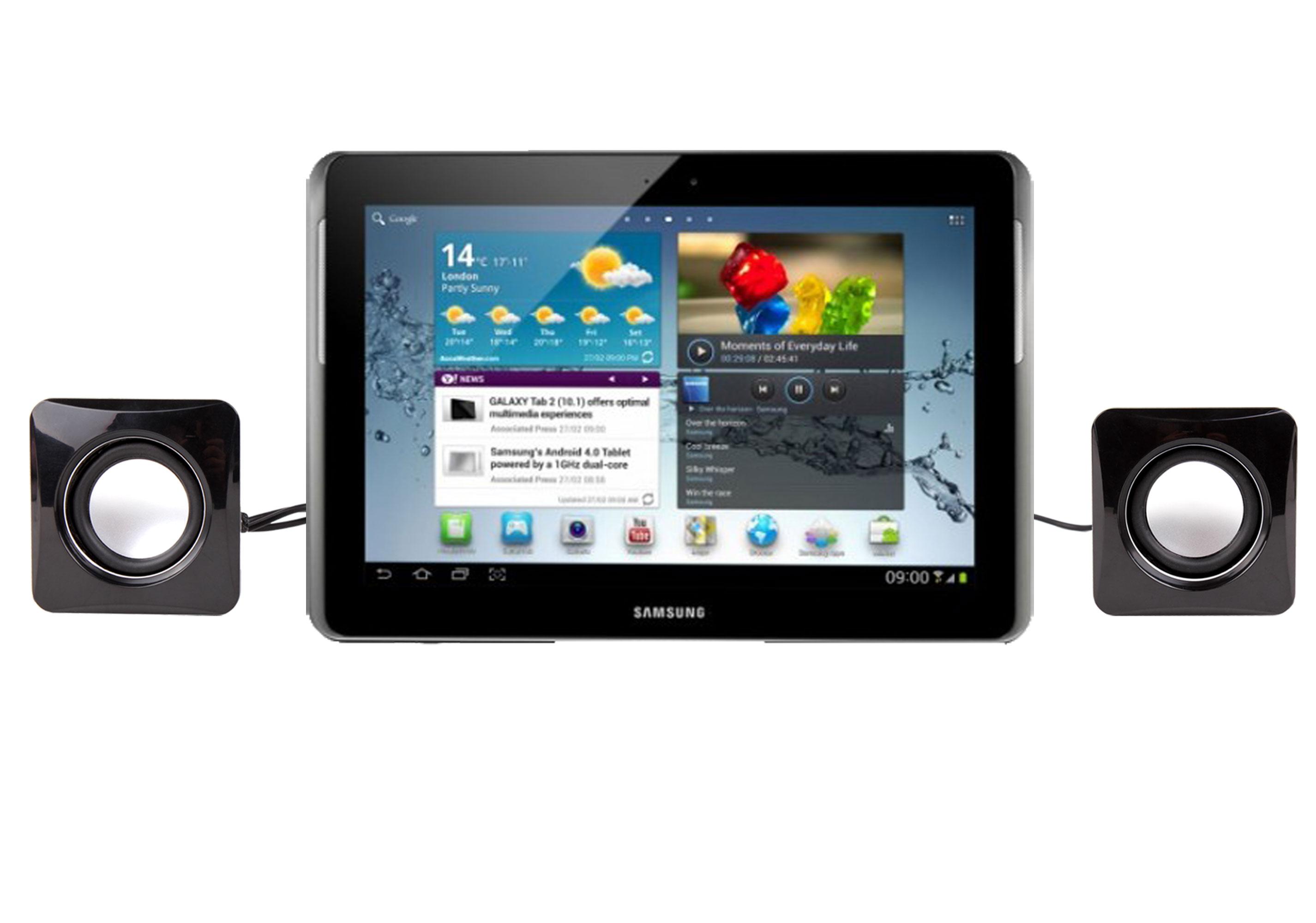 mini enceintes haut parleurs usb pour tablette samsung galaxy tab 2 p5110 ebay. Black Bedroom Furniture Sets. Home Design Ideas