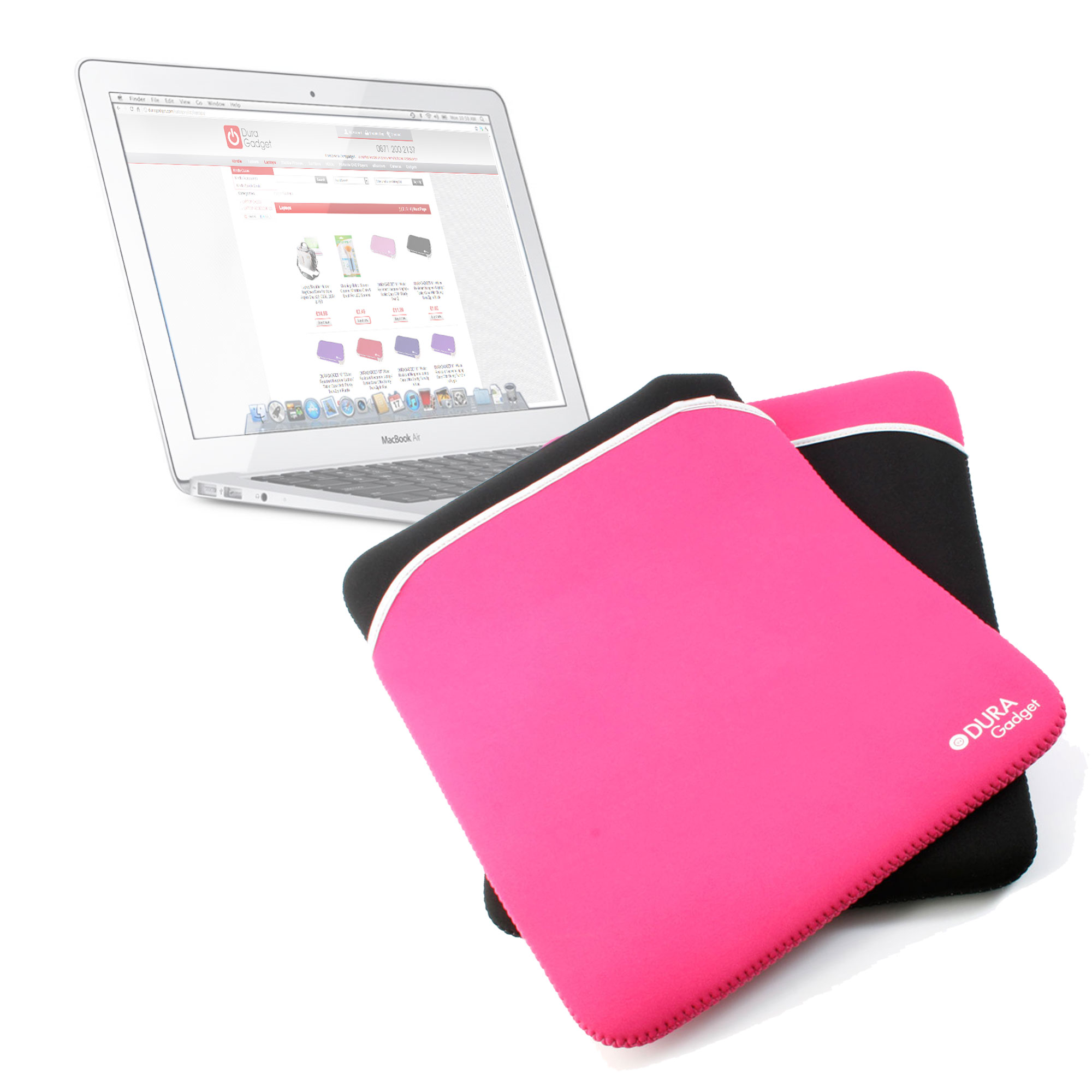 Housse etui rose noir pour ordinateur portable apple for Housse macbook 13