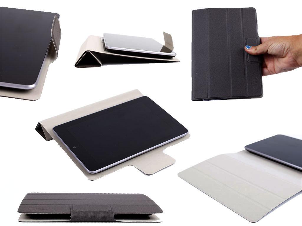 etui couverture noir pour tablette tactile lazer eco 7. Black Bedroom Furniture Sets. Home Design Ideas