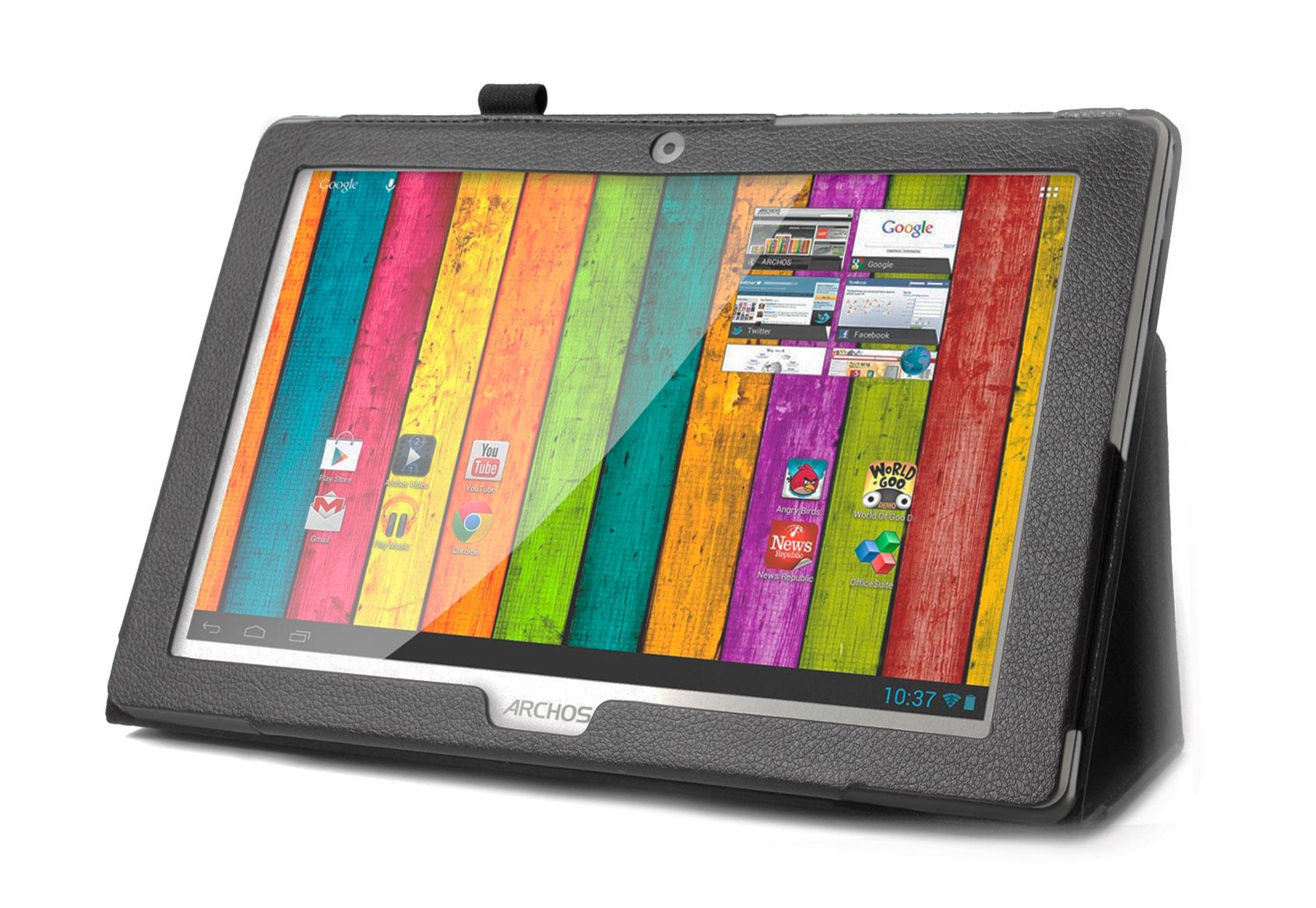 etui noir pour archos 101 titanium tablette 10 1 pouces android stylet noir ebay. Black Bedroom Furniture Sets. Home Design Ideas