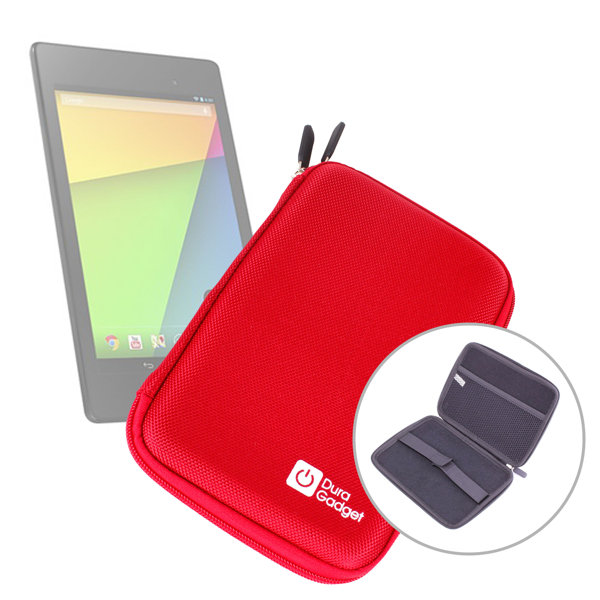 etui coque rigide couleur rouge pour tablette google nexus 7 2 7 ii d 39 asus ebay. Black Bedroom Furniture Sets. Home Design Ideas
