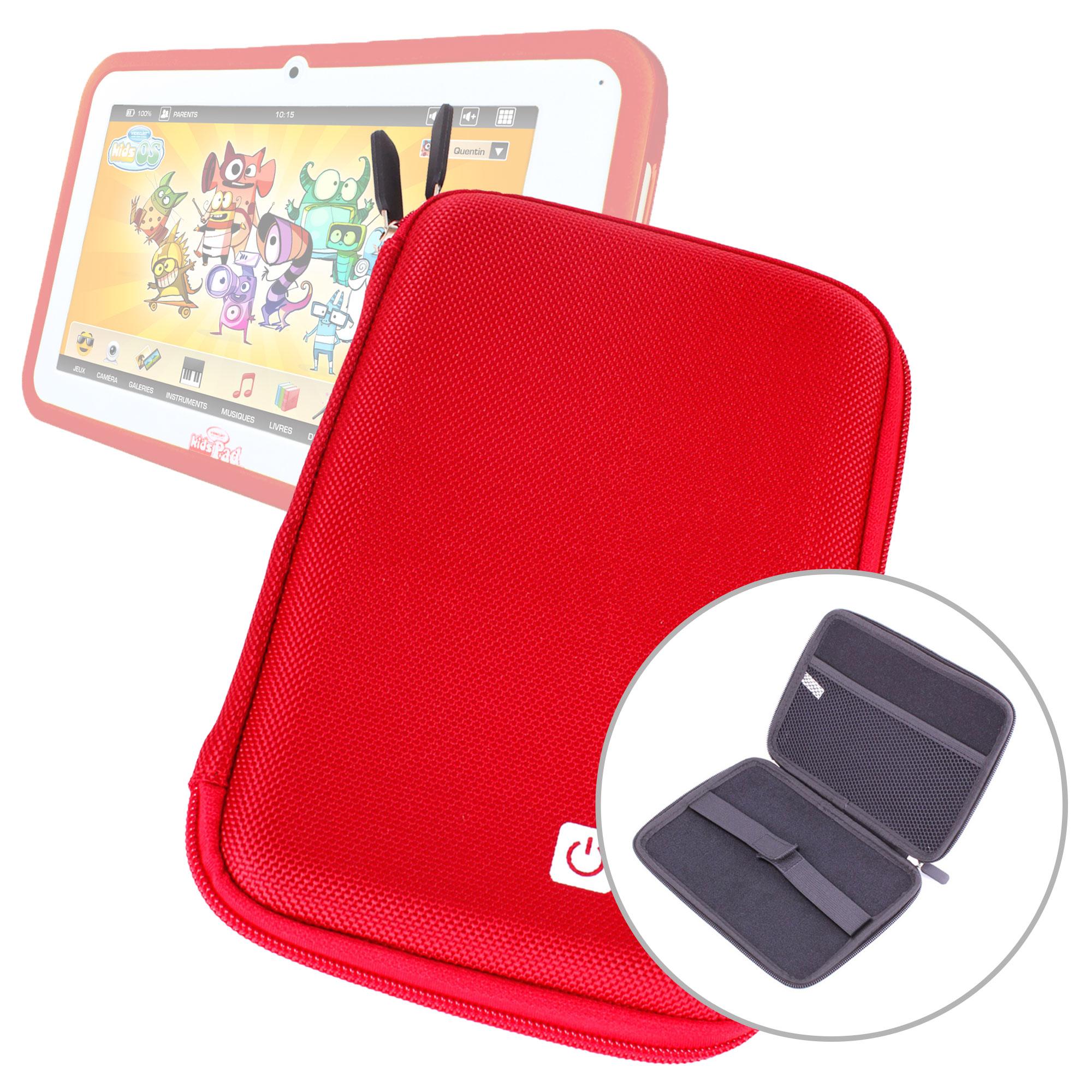 Etui coque rouge rigide pour tablette tactile enfant - Coque pour tablette ...