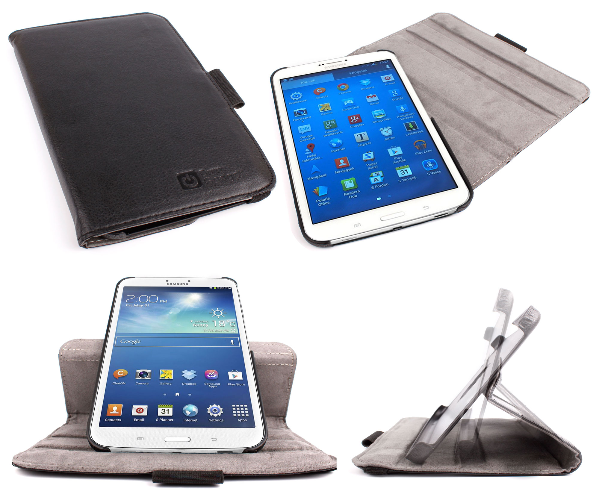 etui noir rotatif pour tablette samsung galaxy tab 3 8 0. Black Bedroom Furniture Sets. Home Design Ideas