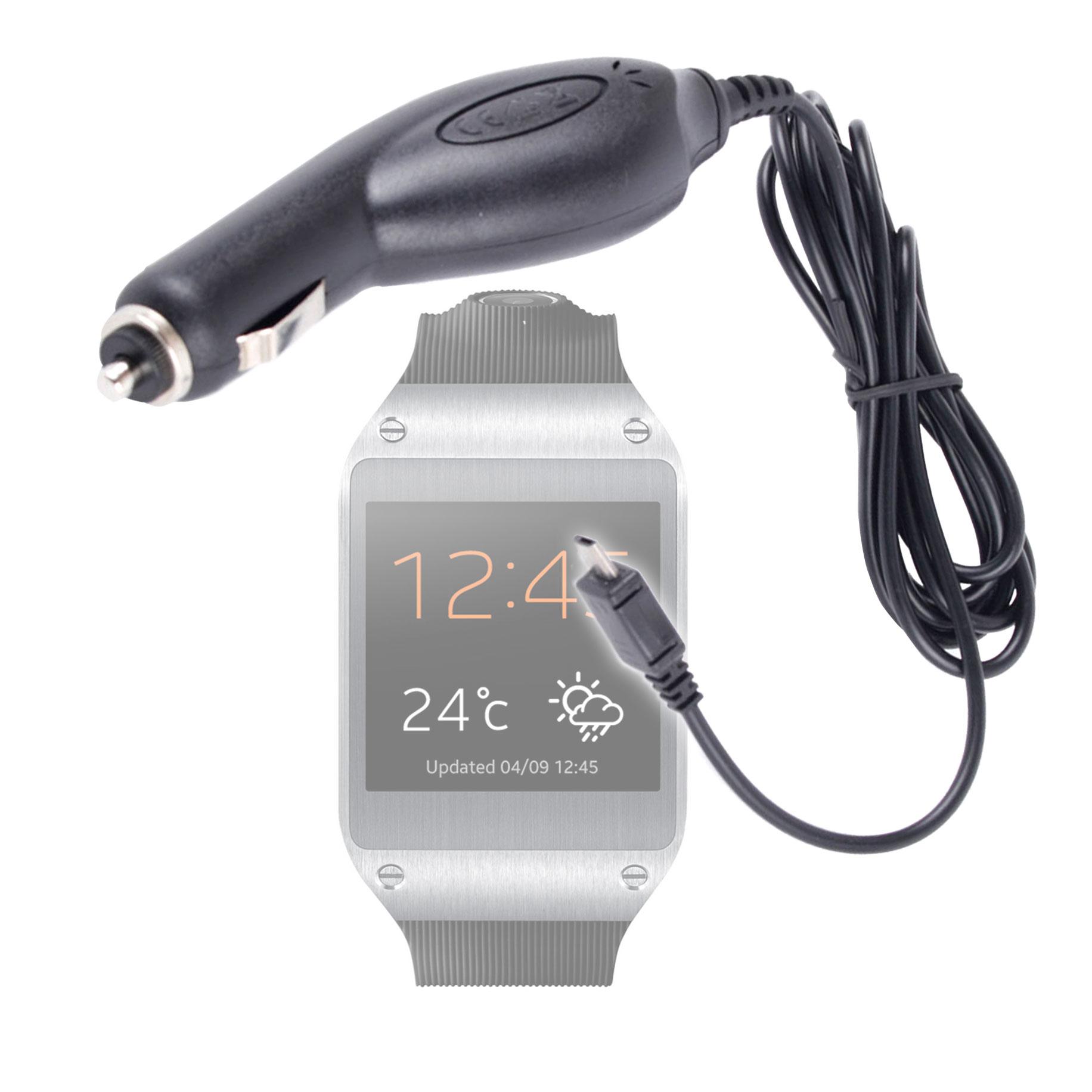 Chargeur voiture pour montre Samsung Galaxy Gear 2, Gear Neo ou light