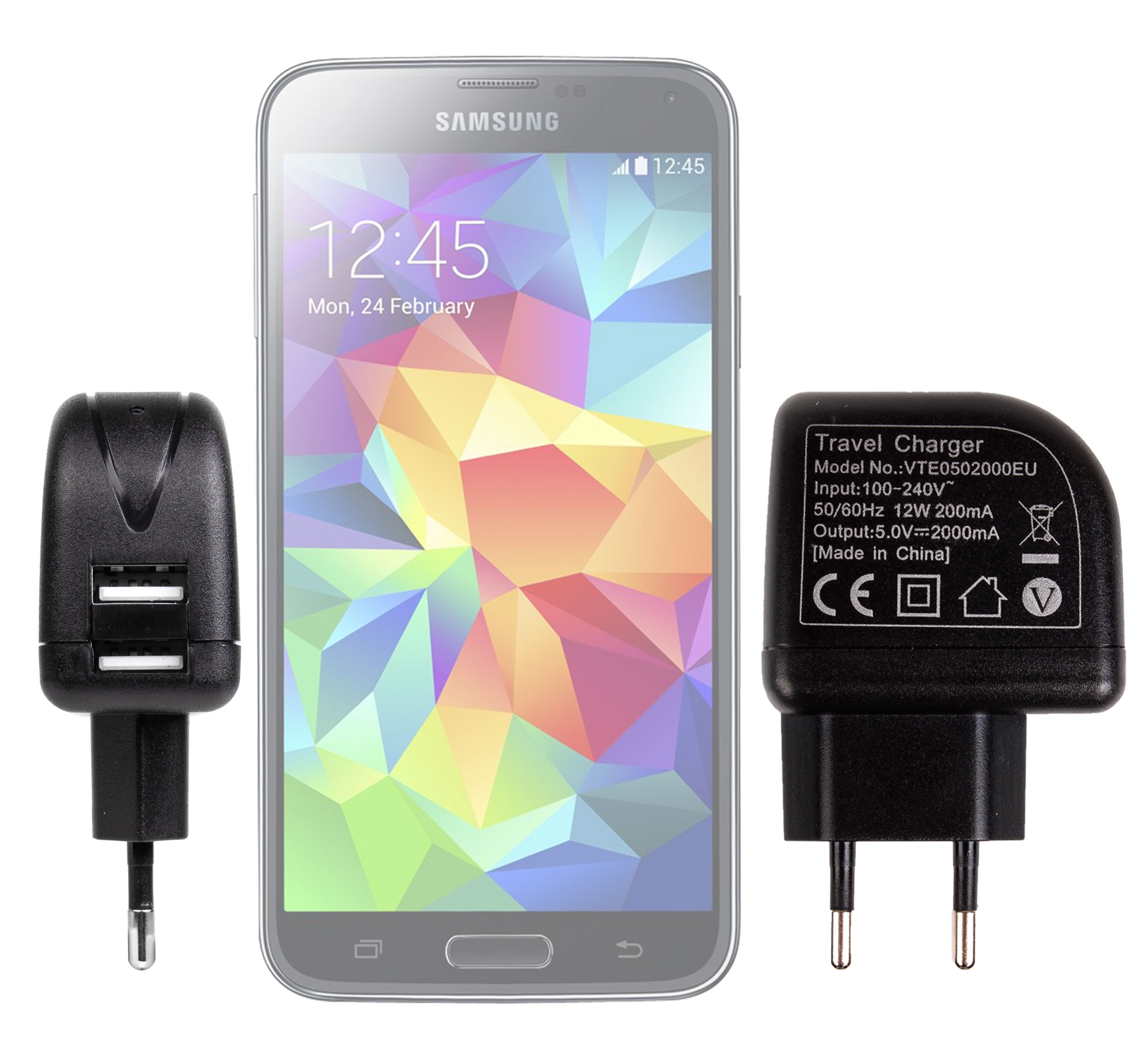 chargeur secteur de 2 amp pour smartphone samsung galaxy. Black Bedroom Furniture Sets. Home Design Ideas
