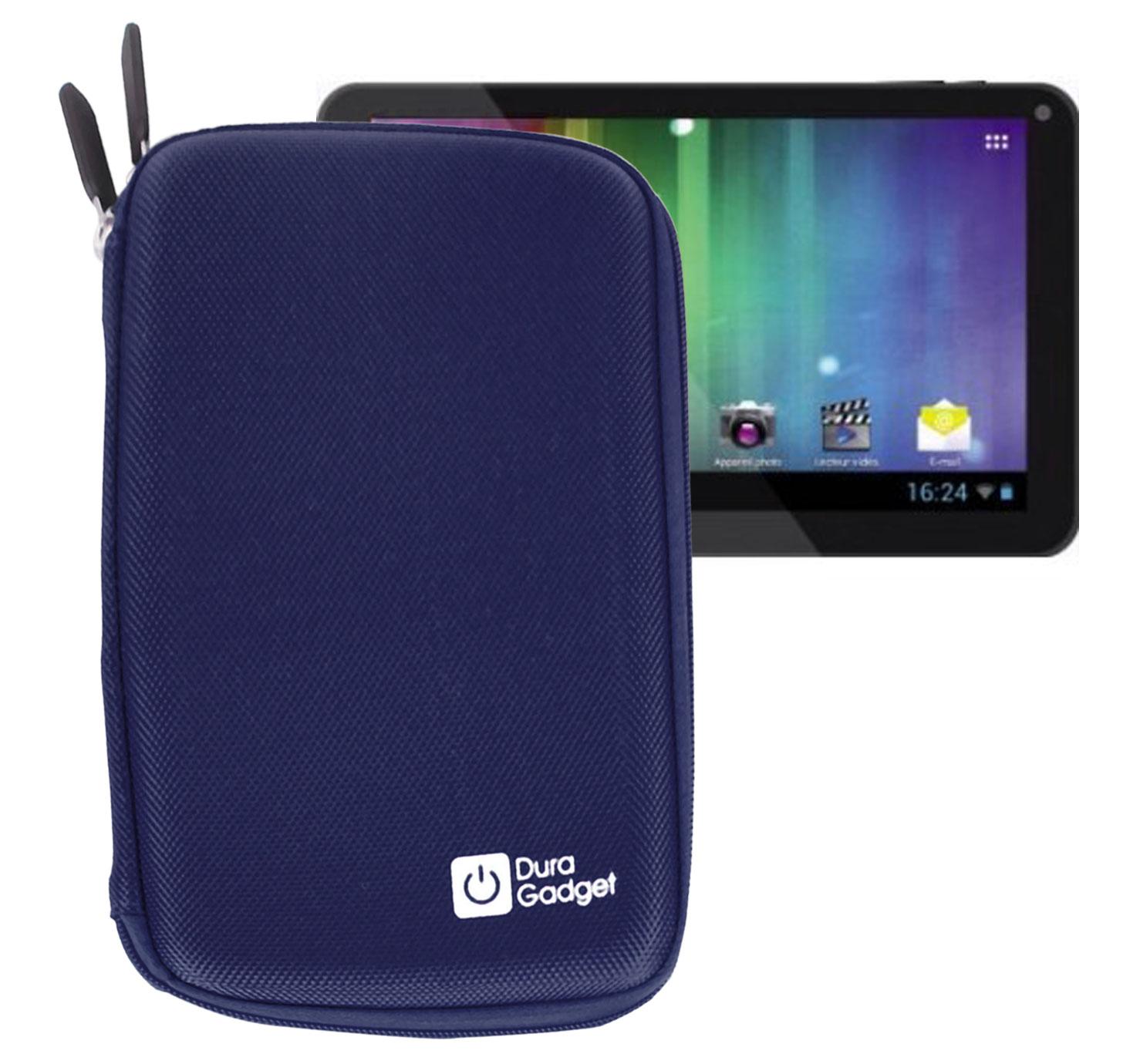 Etui bleu rigide pour tablette multim dia listo web 39 pad for Boulanger etui tablette