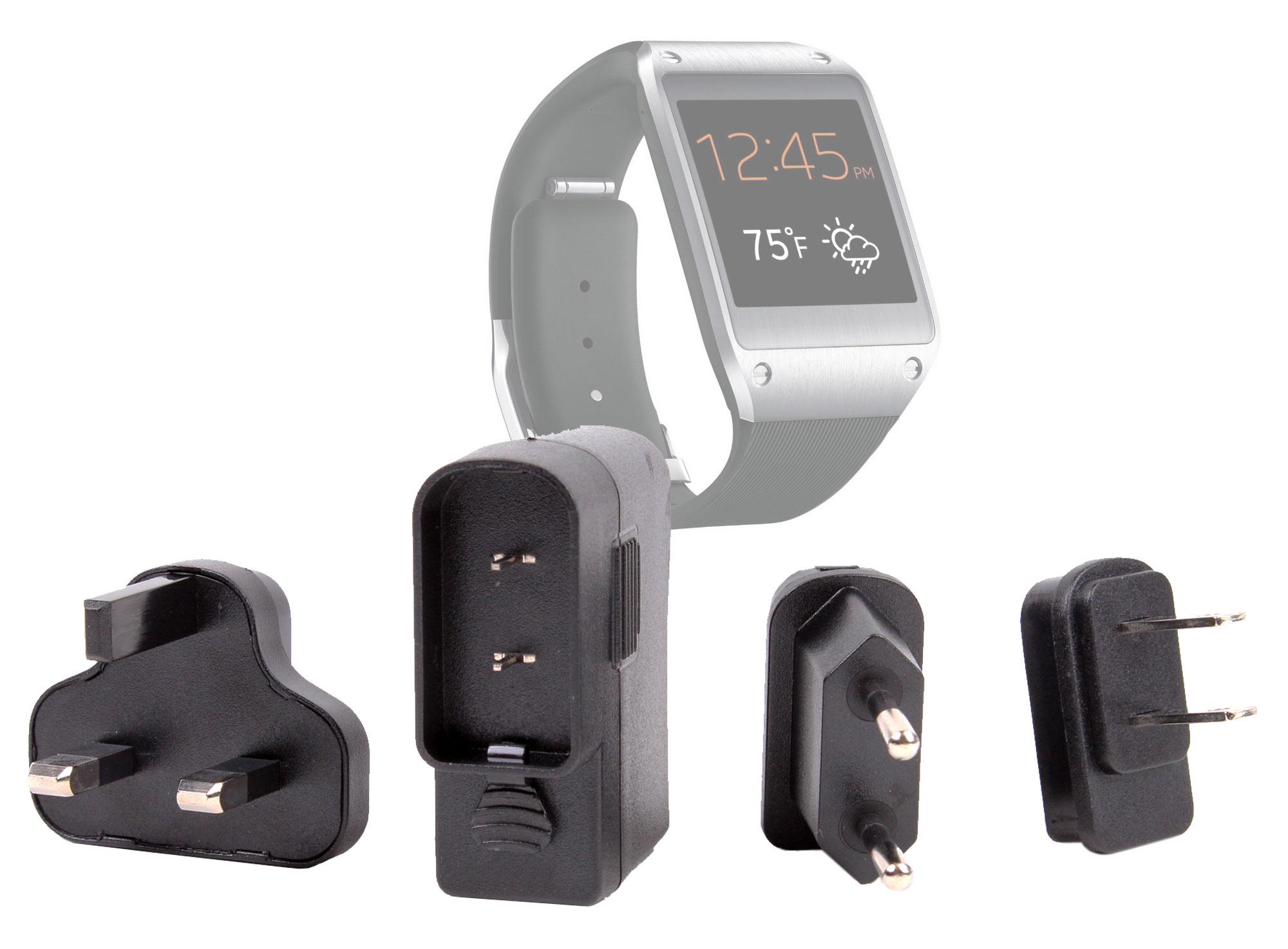chargeur adaptateurs monde pour montre connect e samsung. Black Bedroom Furniture Sets. Home Design Ideas