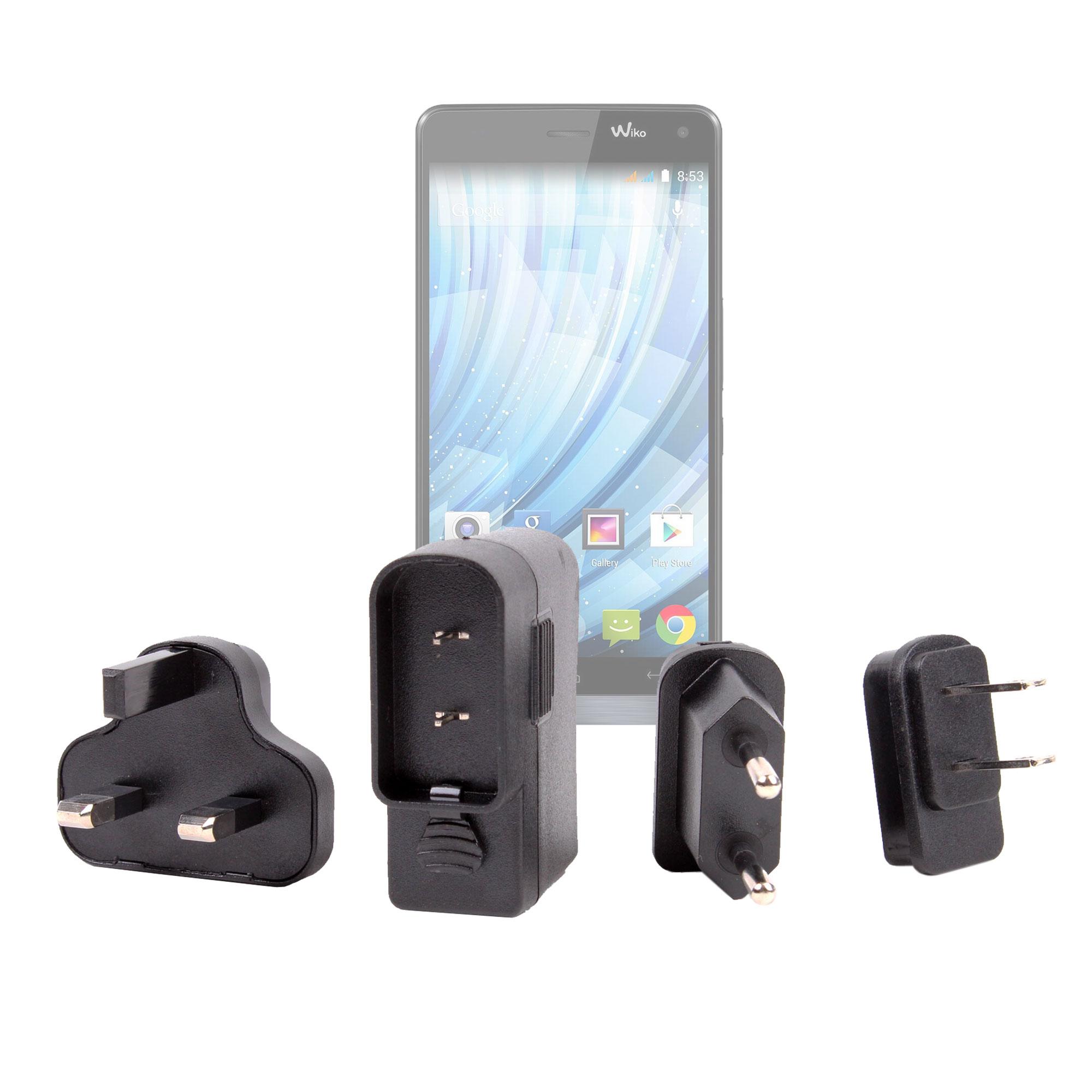 chargeur adaptateurs monde pour smartphone wiko getaway. Black Bedroom Furniture Sets. Home Design Ideas